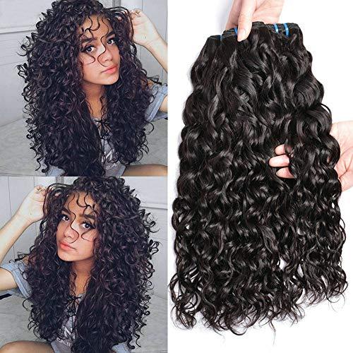 Ladiary Capelli Umani Ricci 100% Naturale Brasiliano Capelli Veri Ricci Tessitura Ricci 9A Human Hair 3 Bundles 10 12 14 Pollici water wave hair Colore Naturale