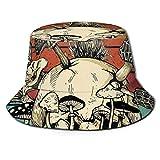 LianLiYa Broken Seta Unisex Al Aire Libre Casual Impreso Sombrero De Pescador Sombrero De Viaje Sombrero De Playa Sombrero Negro