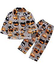 DEBAIJIA Bebé Ropa de Casa 0-12T Infantil Homewear Niños Pijama Niña Ropa de Dormir Niño Camisones Franela Calentar Invierno
