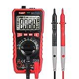 Multimetro Digitale TRMS 9999 Conti, Tester Digitale Automatico con NCV e Live, Manuale di Tensione e Corrente DC/AC, Resistenza,Temperature, Frequenza, Capacità, Continuità, Diodo garanzia di 24 mesi
