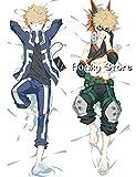 Funky Store My Hero Academia Boku No Hero Academia piel melocotón 50 cm x 150 cm (59 pulgadas x 19,6 pulgadas) funda de almohada corporal (Katsuki Bakugou)