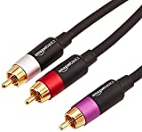 AmazonBasics - Cable de audio RCA (1 macho a 2 machos), 1,2 metros