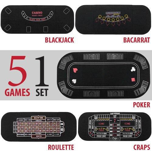 Brybelly 5in 1Deluxe Poker Tisch Top - 6