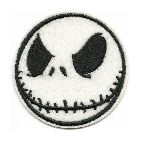 Nightmare Before Christmas Movie Themed Embroidered Iron on Patch Set of 5