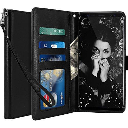 LK Galaxy Note 8 Funda, Carcasa Cubierta Cuero Billetera Case Flip Cover...