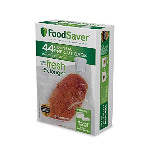 FoodSaver FSFSBF0226-FFP Bags with Unique Multi Layer Construction Vacuum Sealers, 44 quart, Clear