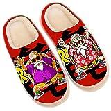Otoño Invierno Zapatillas Casa Mujer Hombre Dragon Ball Kame Sennin de Felpa Suela Antideslizante Zapatos Anime Japonés Cálido Pantuflas Dibujos Animados Suave Cómodo Slippers,39/41 EU