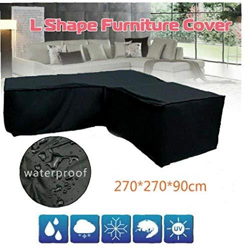 En Forma de L Muebles de jardín Cubiertas Anti-UV Impermeable a Prueba de Polvo del Patio para cenar al Aire Conjunto de Muebles Sofá
