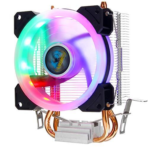 ILS Cooler Heatpipe - Ventilador de CPU (4 pines, RGB, para Intel 775/1150/1151/1155/1156/1366)
