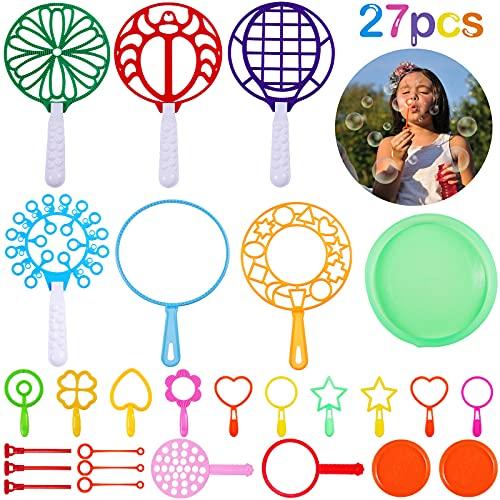Burbujas de Jabón, Comius Sharp Varita de Burbuja Gigante Creativo Bubbles Maker Pompas Jabón para Niños, Verano Juegos al Aire Libre en Interiores y Fiestas de Cumpleaños (B: 27PCS)