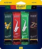 Vandoren SRMIXA25 Alto Sax Jazz Reed Mix Card includes 1 each ZZ, V16, JAVA and JAVA Red Strength 2.5