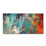 LEPOTN Cuadro de Pared para Sala de Estar Pinturas al óleo sobre Lienzo Cuadro de Color Abstracto Pintado a Mano Decoración del Hotel Arte de la pared-70 * 110cm