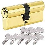 BETOY Cilindro cerradura, Cilindro de Alta Seguridad, , Leva Larga, Llave - Llave, Latonado, 45/45(90mm)Cilindro de doble vuelta para puertas / entradas exteriores