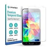 smartect Cristal Templado para Móvil Samsung Galaxy S5 / S5 NEO [MATE] - Protector de pantalla 9H - Diseño ultrafino - Instalación sin burbujas - Anti-huella