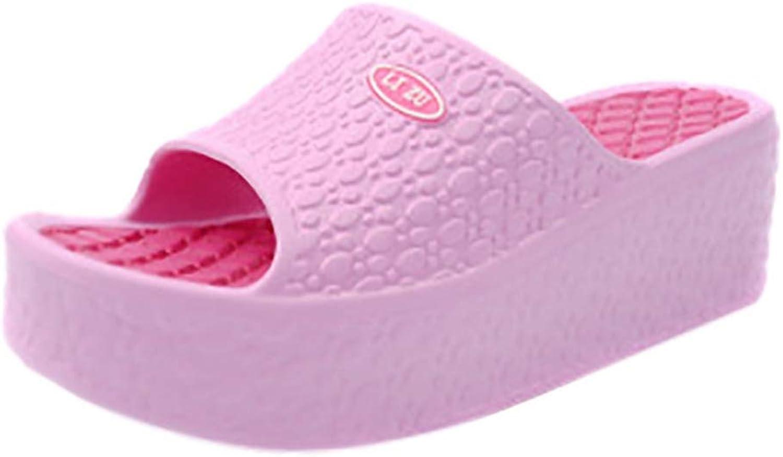 T-JULY Fashion Women's Slippers Flip Flops Platform Slip on Ladies Sandals