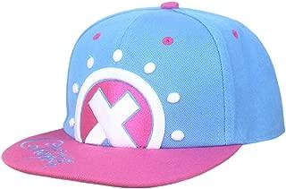 Anime One Piece Tony Tony Chopper Logo Cotton Baseball Cap Sun Hat Casquette Cosplay Pink