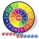 Board Games for Kids, Dart Board for Kids with 12 Sticky Balls, Darts Board Set with Hook, Safe & Classic Toy...