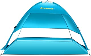 Alvantor Beach Tent Coolhut Plus Beach Umbrella Outdoor Sun Shelter Cabana Automatic Instant Pop-Up UPF 50+ Sun Shade Portable Camping Canopy Easy Set Up Light Weight Windproof