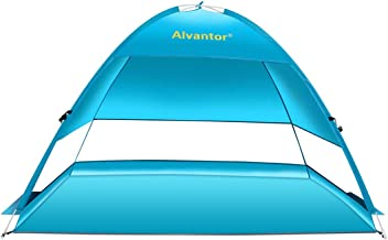 Alvantor Beach Tent Coolhut Plus Beach Umbrella Outdoor Sun Shelter Cabana Automatic Instant Pop-Up UPF 50+ Sun Shade Portable Camping Canopy Easy Set Up Light Weight Windproof