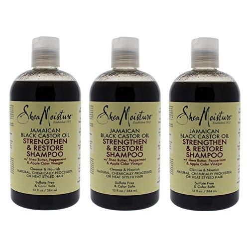 Shea Moisture Jamaican Black Shampoo 13 Ounce (384ml) (Pack of 3)