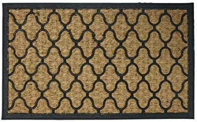 "Rubber-Cal ""Harmonious Garden"" Outdoor Coco Decorative Rubber Entry Mat, 18 x 30-Inch"