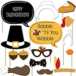 Give Thanks - Thanksgiving Party Photo Booth Props Kit