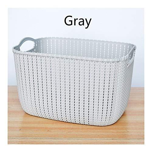 Verdikte imitatie Rattan Storage Basket Thuis Plastic Plantaardige Portable Basket puin opbergdoos Keuken Storage Supplies (Color : C, Size : M)