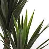 Mica decorations künstliche Yucca Palme - Yuccapalme im Kunststofftopf - h 120 x d 60cm - 2