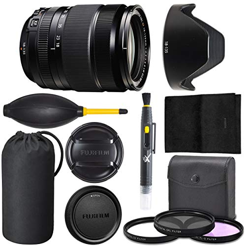 Fujifilm XF 18-135mm OIS WR: (16432853) Fujifilm XF 18-135mm f/3.5-5.6 R LM OIS WR Lens + AOM Pro Starter Bundle Kit - International Version (1 Year AOM Warranty)