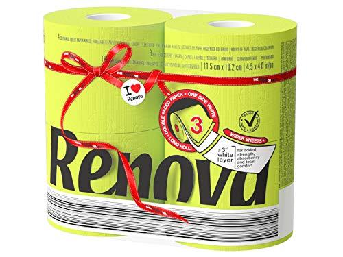 Renova Toilettenpapier, Paket von 5x 4Rollen grün