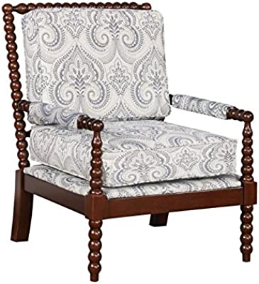 Linon Bristol Blue Spindal Wood Frame Chair
