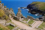 509054 Tintagel Castle North Cornwall A4 Photo Poster Print