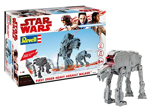 Revell Build & Play - Star Wars First Order Heavy Assault Walker - 06761, Maßstab 1:164, originalgetreue Nachbildung mit beweglichen Teilen, mit Light&Sound Effekten, robust zum Spielen