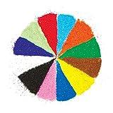 Baker Ross AG638 Bolsas de Arena Brillante en 12 Colores (Paquete de 12 Bolsas) Para decorar...