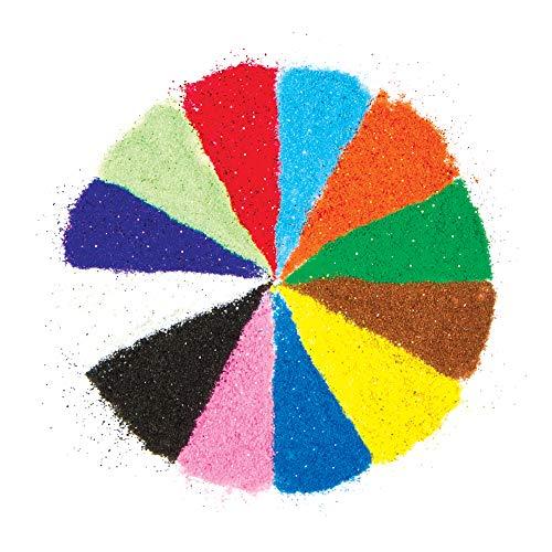 Baker Ross AG638 Glitzersand Farben für Kinder zum Basteln, Gestalten und Verzieren von Karten, Bastelarbeiten und Collagen im Sommer (12 Beutel)