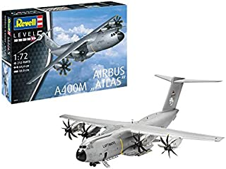 Revell REV-03929 Airbus A400M Atlas, flygplansmodellbyggsats 1:72, 64,4 cm 03929, olackerad