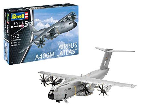 Revell-Airbus A400M Atlas Maqueta Avión, 14+ Años, Multicolor, 1:72 Scale (03929)
