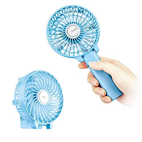 Mini Handheld Fan, EasyAcc Personal Cooling Fan Personal Battery Fan USB Desk Fan Small Folding Portable Table Fan Rechargeablefor Travel Office Room Household Blue
