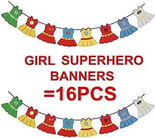 Superhero Dc Super Girls Justice League Bunting Baby Shower Girl Banners Marvel Avengers Spidergirl Batgirl Superhero Girl First Birthday