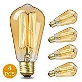 KKTICK Ampoule Edison, Lampe Edison Vintage Décorative Ampoule Filament E27 ST64 Retro Antique Lampe Idéal pour les éclairages...