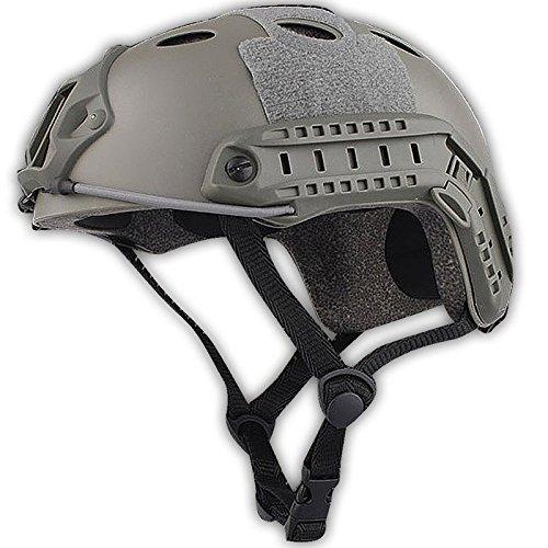 H mundo compras ejército estilo militar SWAT combate tipo PJ rápido casco protección para los ojos para Airsoft y Paintball (FG)