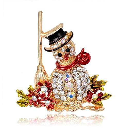 Zonfer 1pc Frohe Weihnachten Brosche Cartoon Fawn Weihnachtsmann Blume Im Knopfloch-Revers Pin-Legierung Weihnachten Kleidung Handtasche Dekor-Charme
