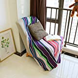 84 X 59 Inch Mexican Serape Blanket Bay Window Blanket, Mexican Tablecloth Serape Tatami Blanket Bed Blanket Table Cover Tapestry Blanket Picnic Mat for Mexican Party Wedding Decorations