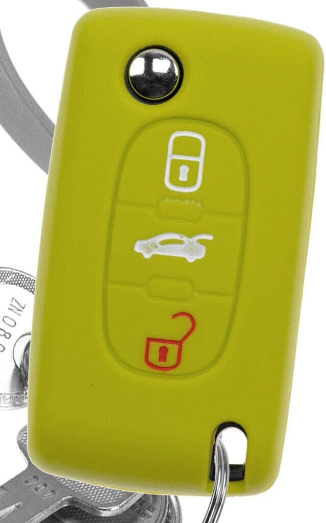Soft Case Auto Schlüssel Silikon Schutz Hülle Grün Elektronik