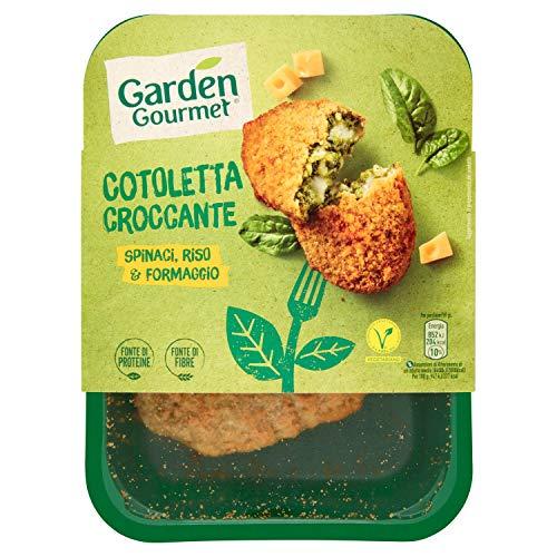 Garden Gourmet Cotoletta croccante vegetariana con spinaci riso e formaggio 180 g, 2 pezzi