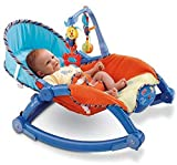 Baby Bucket Newborn to Toddler Portable Baby Rocker, Blue