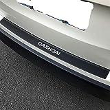 Coche Carbono Fibra Parachoques Trasero Protector Sticker, para Nissan Qashqai J10 J11 Rear Bumper Kick Plate Decoración Estribos Engomada, Car Carrocería Accesorios