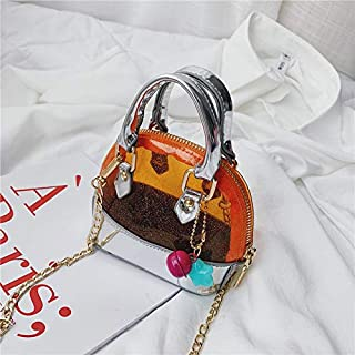 Adebie - 2019 Summer New Mini Kid Jelly Shell Handbag Transparent Clear Small Children's Tote Bag Cute Girl Hand Bag Scarf Shoulder Bag Orange []