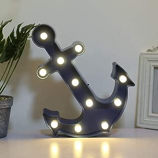 FuChsun Marquee Signs Lighting Night Light Room Decor (BlueAnchor)