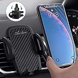Avolare Handyhalterung Auto Handyhalter fürs Auto Lüftung Universal Handy KFZ Halterungen für iPhone Samsung Huawei Sony LG und mehere Smartphone oder GPS-Gerät (PU Schwarz)
